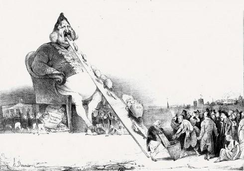 "Honoré Daumier: ""König Louis-Philippe als Gargantua"" 1831"