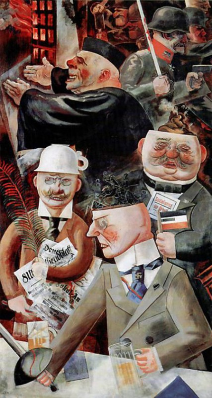 "George Grosz: ""Stützen der Gesellschaft"" 1926"