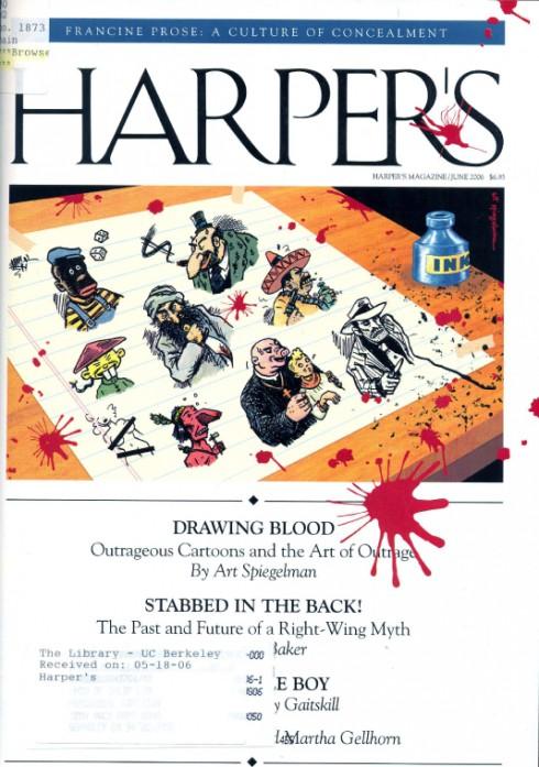 Harper's Magazine Juni 2006 - Umschlagzeichnung von Art Spiegelman