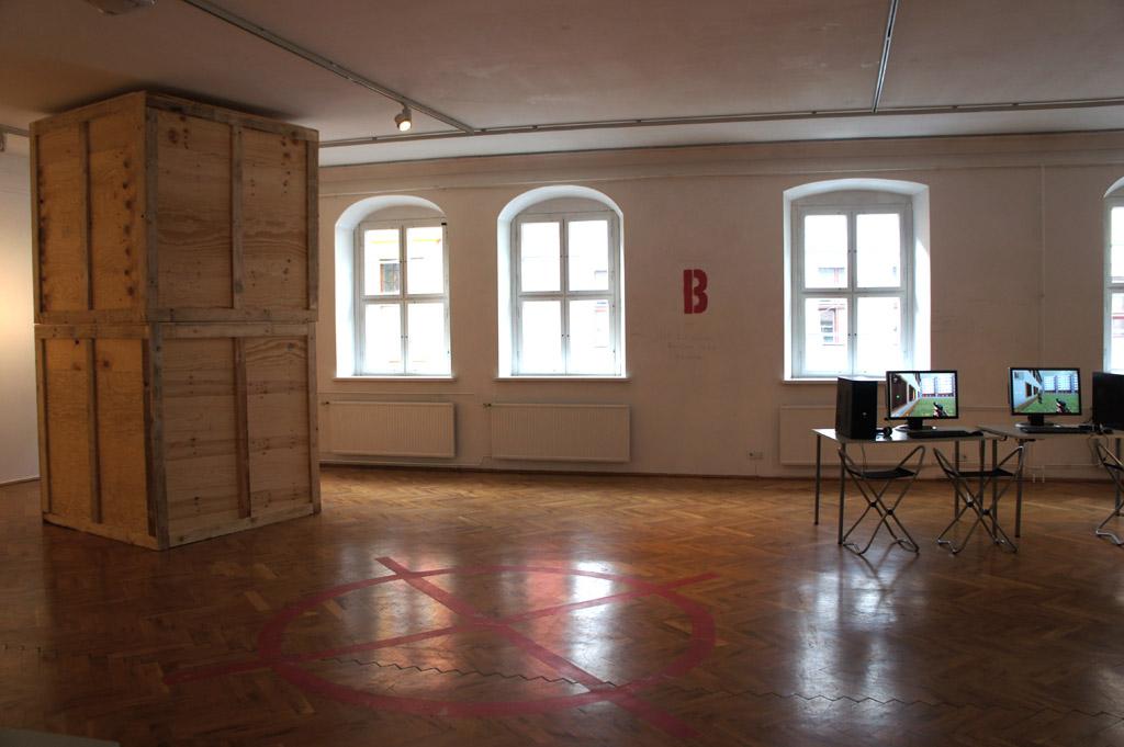 Bombspot B, Installation de_kunsthaus, Ausstellung FEINDBILD 2.0, Kunsthaus Dresden